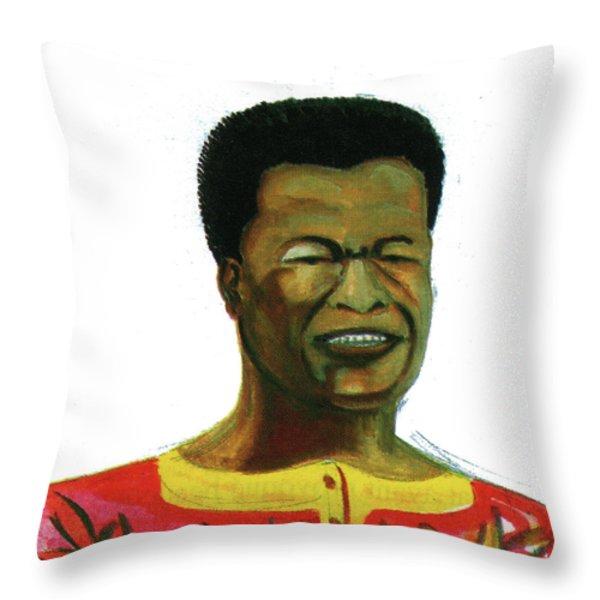 Jose Belo Chipenda Throw Pillow by Emmanuel Baliyanga