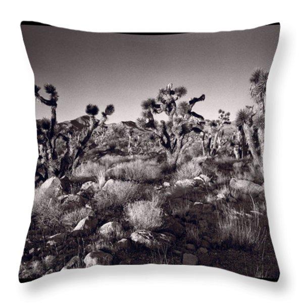 Joshua Tree Forest St George Utah Throw Pillow by Steve Gadomski