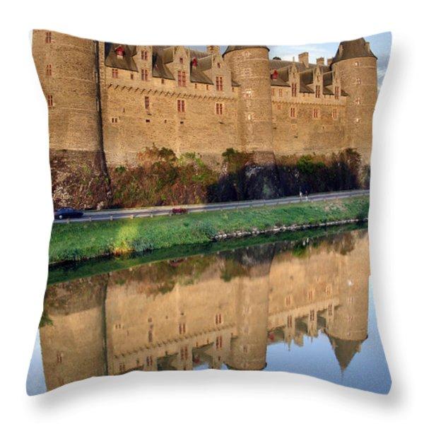 Josselin Chateau Throw Pillow by Jane Rix