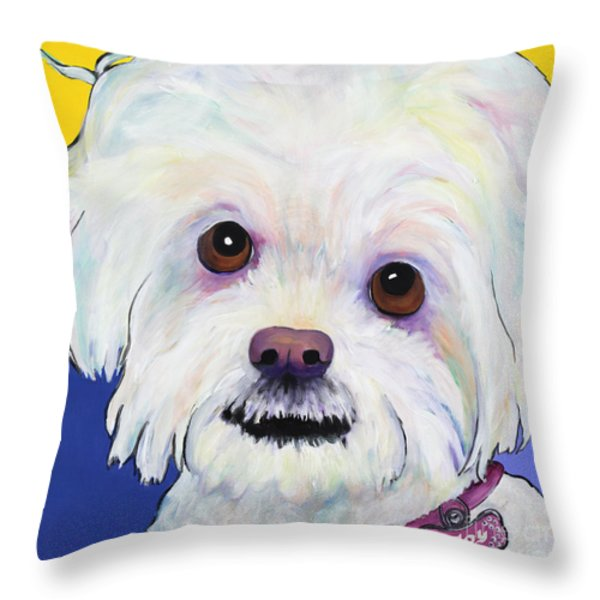 Joy Throw Pillow by Pat Saunders-White