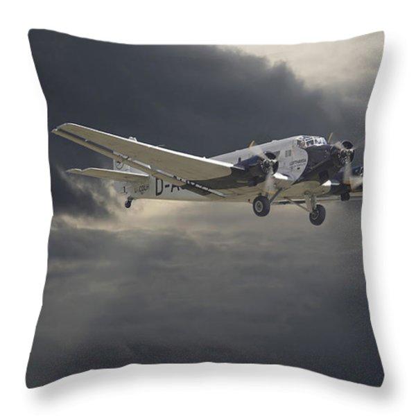 Ju52 -- Iron Annie Throw Pillow by Pat Speirs