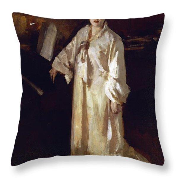 Judith Gautier Throw Pillow by John Singer Sargent