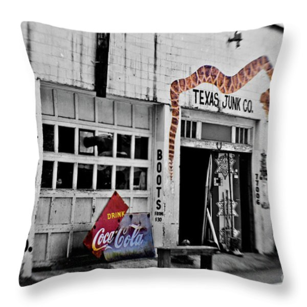 Junk Company Throw Pillow by Scott Pellegrin
