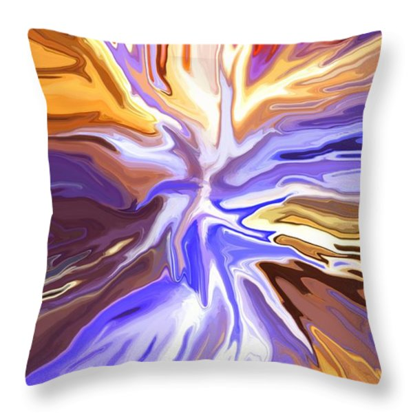 Just Abstract V Throw Pillow by Chris Butler