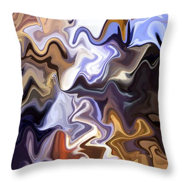 Just Abstract VI Throw Pillow by Chris Butler