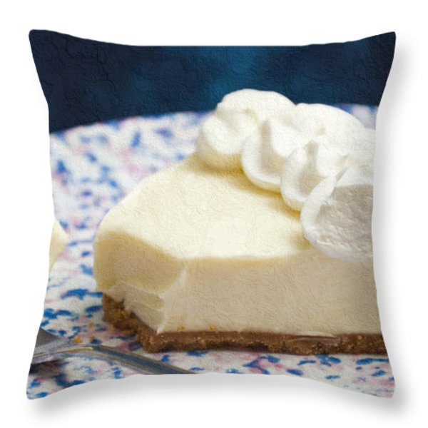 Just One Bite Of Key Lime Pie Throw Pillow by Andee Design