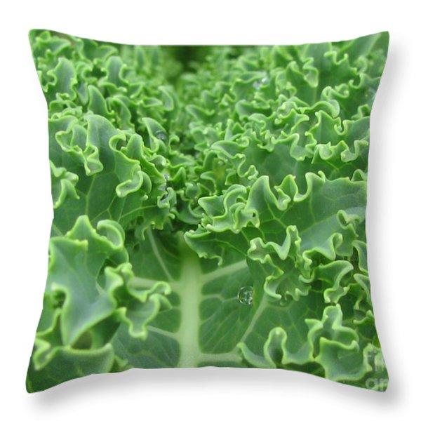 Kale Throw Pillow by Tina Marie