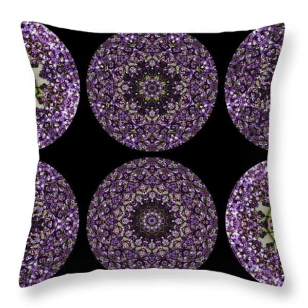 Kaleidoscope Sampler Throw Pillow by Teresa Mucha