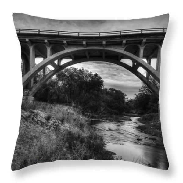 Kansas Archway Bridge Throw Pillow by Thomas Zimmerman
