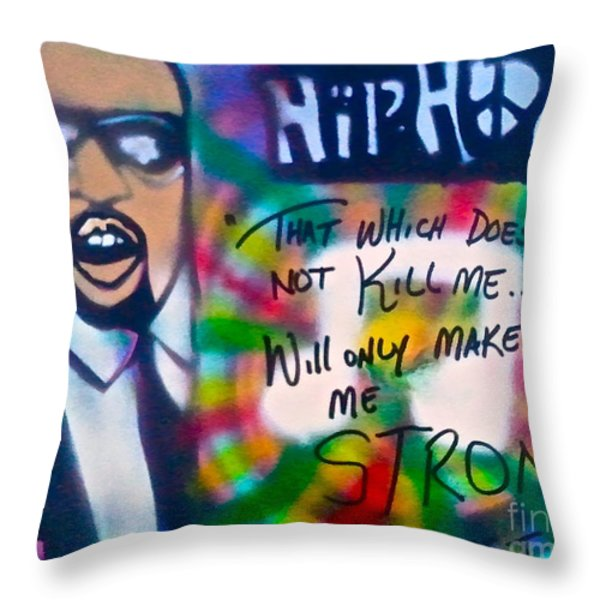 Kanye West Stronger Throw Pillow by TONY B CONSCIOUS