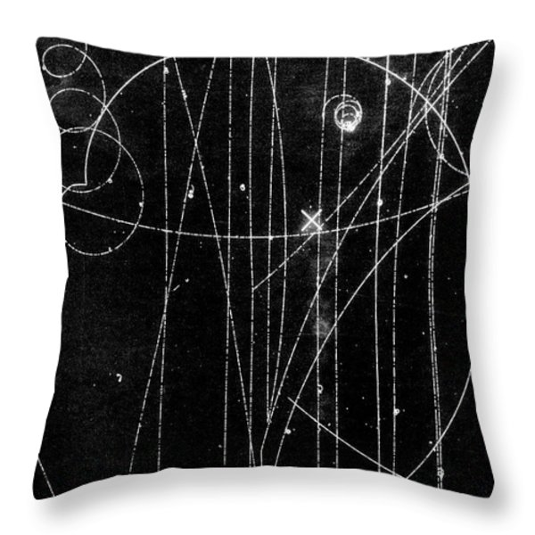 Kaon Proton Collision Throw Pillow by SPL and Photo Researchers