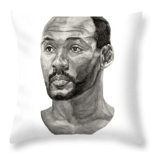 Karl Malone Throw Pillow by Tamir Barkan