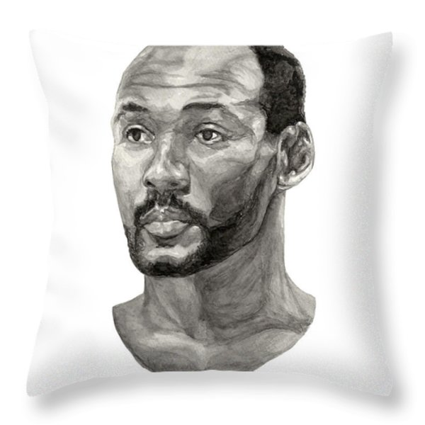 Karl Malone Throw Pillow by Tamir Barkan
