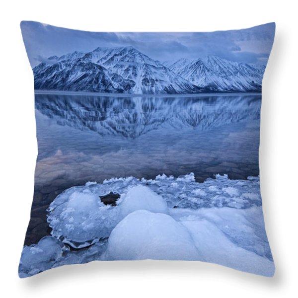 Kathleen Lake, Kluane National Park Throw Pillow by Robert Postma