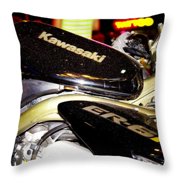 kawasaki Throw Pillow by Stylianos Kleanthous