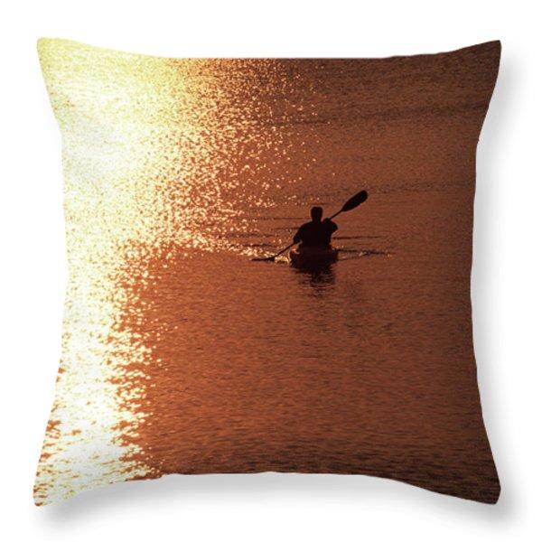 Kayak, South Carolina Throw Pillow by Dawn Kish