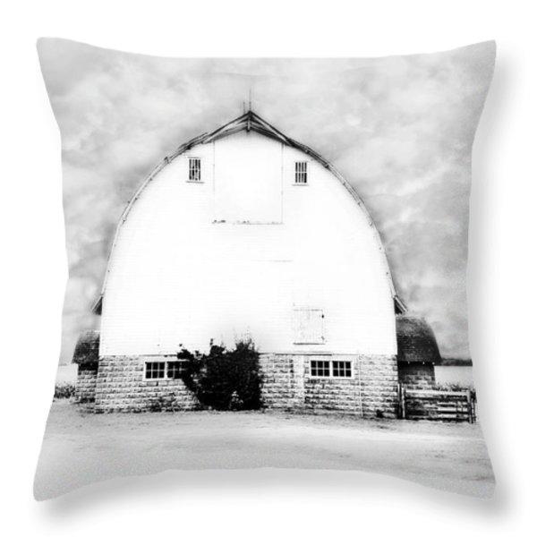 Kays Barn Throw Pillow by Julie Hamilton