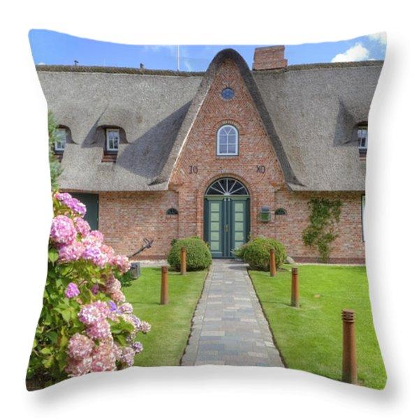 Keitum - Sylt Throw Pillow by Joana Kruse