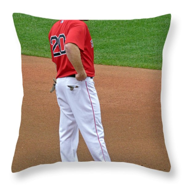 Kevin Youkilis Throw Pillow by Juergen Roth