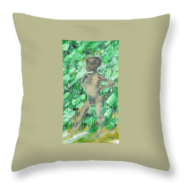 Kid Throw Pillow by Agenor  Marti
