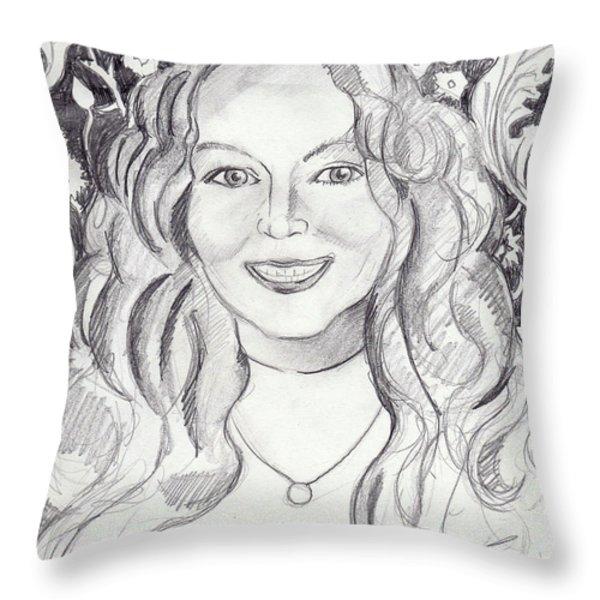 Kimberly Dupree Throw Pillow by John Keaton