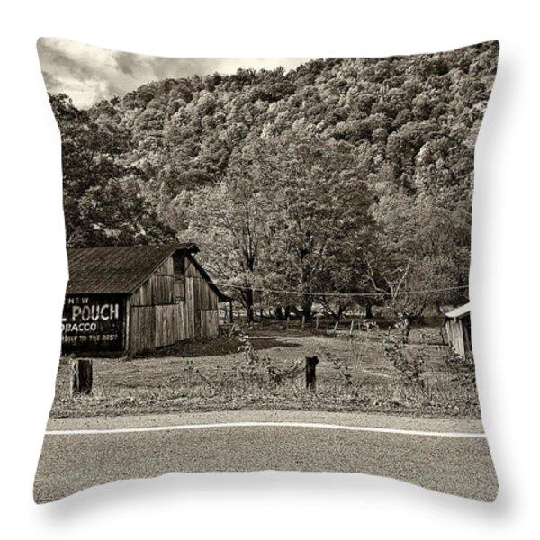 Kindred Barns Sepia Throw Pillow by Steve Harrington