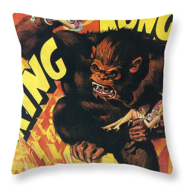 King Kong Throw Pillow by Nomad Art And  Design