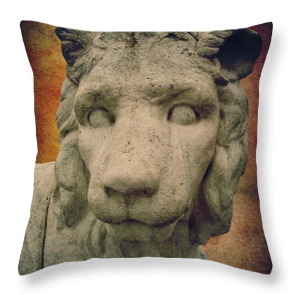King Lion Throw Pillow by Angela Doelling AD DESIGN Photo and PhotoArt