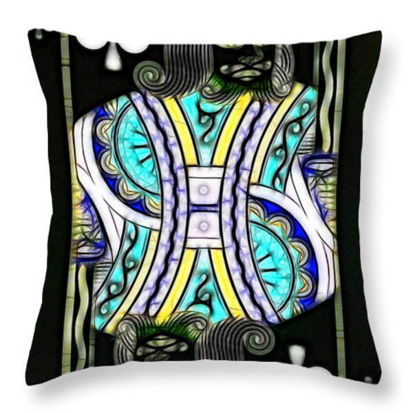 King Of Spades - V2 Throw Pillow by Wingsdomain Art and Photography