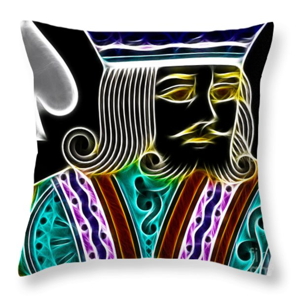 King of Spades - v4 Throw Pillow by Wingsdomain Art and Photography