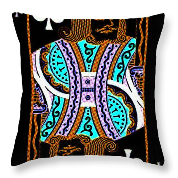 King of Spades Throw Pillow by Wingsdomain Art and Photography