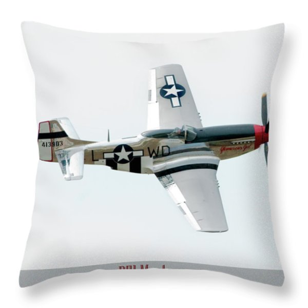 King of the Skies Throw Pillow by Greg Fortier