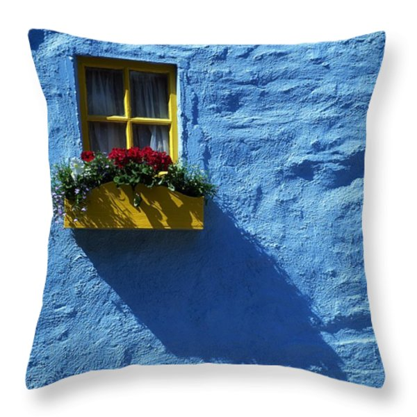 Kinsale, Co Cork, Ireland Cottage Window Throw Pillow by The Irish Image Collection