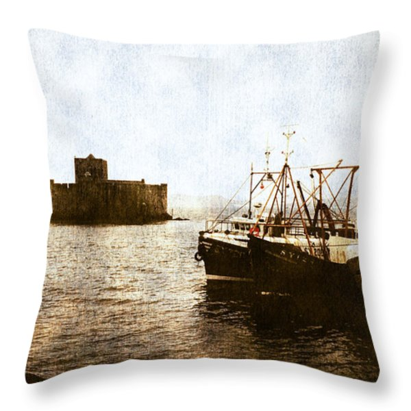 Kisimul Castle Scotland Throw Pillow by Jasna Buncic