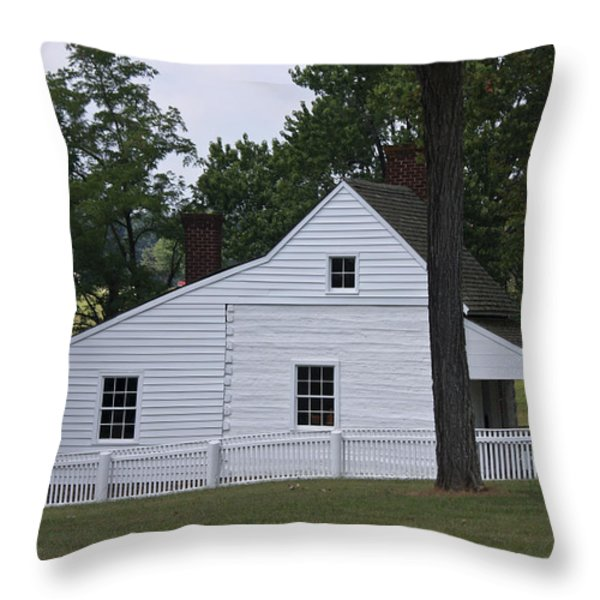 Kitchen and Slave Quarters Appomattox Virginia Throw Pillow by Teresa Mucha