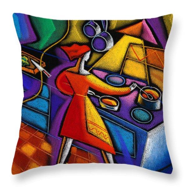 Kitchen  Throw Pillow by Leon Zernitsky
