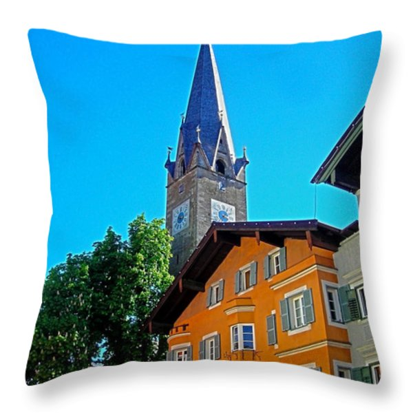 Kitzbuehel - Austria Throw Pillow by Juergen Weiss