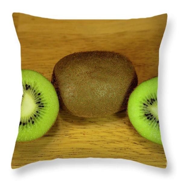 Kiwi Kiwi And More Kiwi Throw Pillow by Michael Waters
