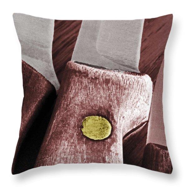 Knives II Throw Pillow by Bill Owen