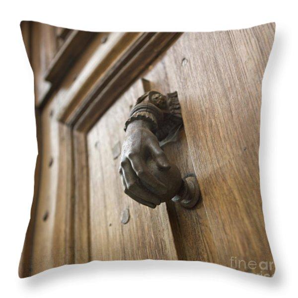 knocker Throw Pillow by BERNARD JAUBERT