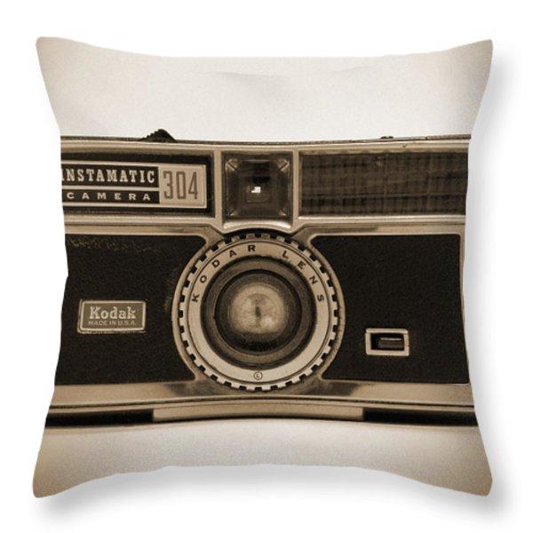 Kodak Instamatic Camera Throw Pillow by Mike McGlothlen