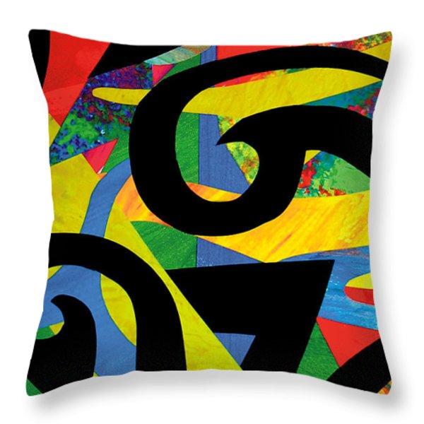 Koru Cut-out Throw Pillow by Roseanne Jones