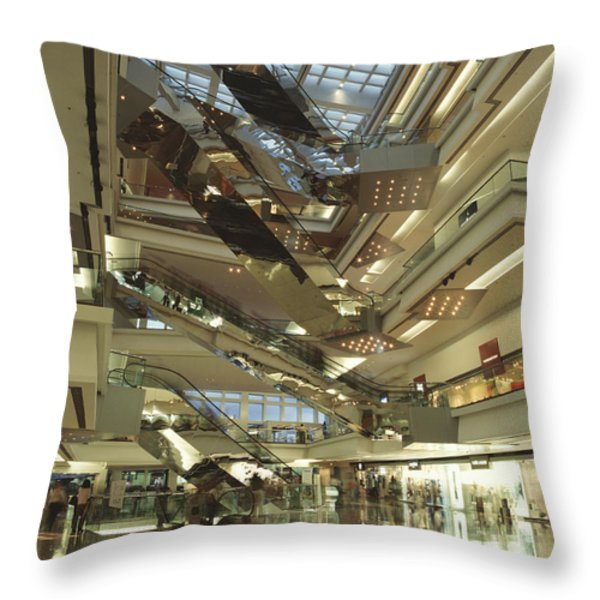 Kowloon Tong Festival Walk, The Newest Throw Pillow by Justin Guariglia