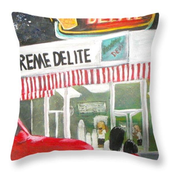 Kreme Delite Throw Pillow by Tina Swindell