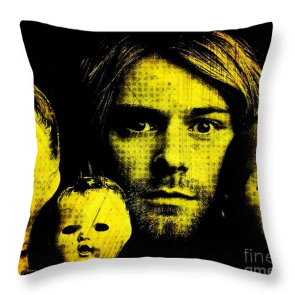Kurt Cobain Throw Pillow by Ankeeta Bansal