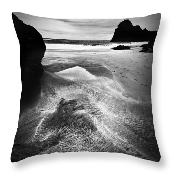 Kynance Cove Cornwall Throw Pillow by Dorit Fuhg