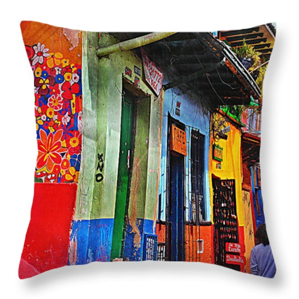 La Candelaria Throw Pillow by Skip Hunt