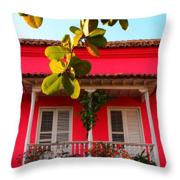 La Casa De Los Duendes Throw Pillow by Skip Hunt