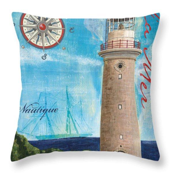 La Mer Throw Pillow by Debbie DeWitt