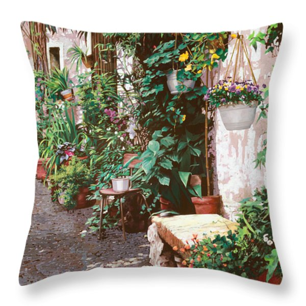 la panca di pietra Throw Pillow by Guido Borelli